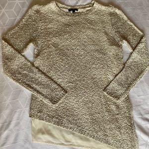 APT 9 asymmetrical layered sequin sweater